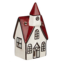 Buy John Lewis Folklore Festive House Tealight Holder, Small Online at johnlewis.com