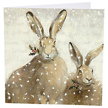 Buy Art Marketing Festive Hares Charity Cards, Pack of 6 Online at johnlewis.com