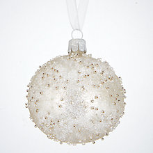 Buy John Lewis Highland Myths Flittered Bead Bauble, Clear Online at johnlewis.com
