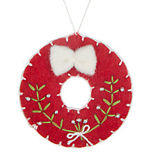 Buy John Lewis Folklore Felt Wreath Tree Decoration Online at johnlewis.com