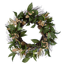 Buy John Lewis Into the Woods Berry Wreath, Dia.64cm, Green/Gold Online at johnlewis.com