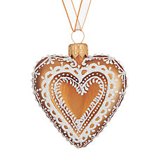 Buy John Lewis Folklore Gingerbread Heart Tree Decoration Online at johnlewis.com