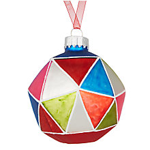 Buy John Lewis Lima Llama Geometric Disco Bauble Online at johnlewis.com