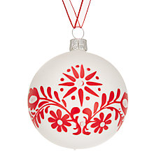 Buy John Lewis Folklore Flower Motif Bauble Online at johnlewis.com