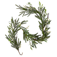 Buy John Lewis Winter Palace Frosted Pine and Mistletoe Garland, L180cm, Green Online at johnlewis.com