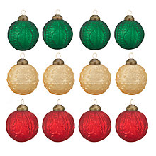 Buy John Lewis Classic Treasure Baubles, Box of 12 Online at johnlewis.com