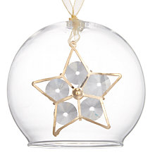 Buy John Lewis Winter Palace Star Bell Bauble, Clear Online at johnlewis.com