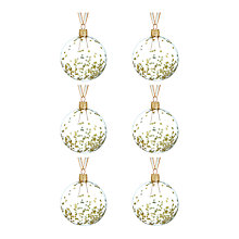Buy John Lewis Into the Woods Sequin Star Bauble, Pack of 6, Clear Online at johnlewis.com