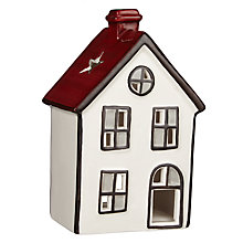 Buy John Lewis Folklore Festive House Tealight Holder, Large Online at johnlewis.com