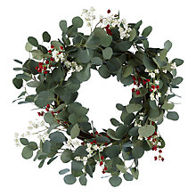 Buy John Lewis Folklore Eucalyptus and Berry Wreath, Dia.60cm, Green Online at johnlewis.com