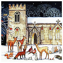 Buy Woodmansterne Festive Visit Charity Christmas Cards, Pack of 5 Online at johnlewis.com