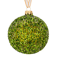 Buy John Lewis Into the Woods Glitter Encrusted Bauble, Green Online at johnlewis.com