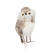 Buy John Lewis Highland Myths Fluffy Owl Tree Decoration Online at johnlewis.com