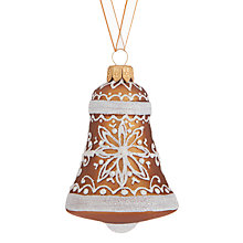 Buy John Lewis Folklore Gingerbread Bell Bauble Online at johnlewis.com