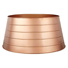 Buy John Lewis Mitsuko Galvanised Tree Skirt, Copper Online at johnlewis.com