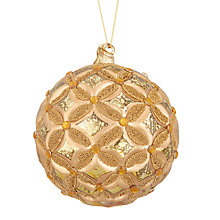 Buy John Lewis Tales of the Maharaja Petal Bauble with Gems, Gold Online at johnlewis.com