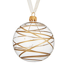 Buy John Lewis Mitsuko Star Swirl Bauble, Gold Online at johnlewis.com