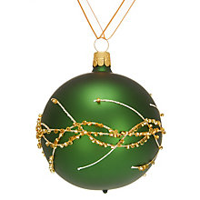 Buy John Lewis Into the Woods Beaded Branch Bauble, Green Online at johnlewis.com