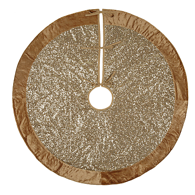 John Lewis Tales of the Maharaja Sequin Tree Skirt, Gold, 125cm