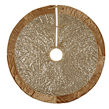 Buy John Lewis Tales of the Maharaja Sequin Tree Skirt, Gold, 125cm Online at johnlewis.com