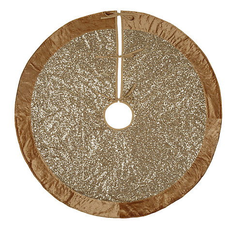 buy john lewis tales of the maharaja sequin tree skirt gold 125cm online at - Silver Christmas Tree Skirt