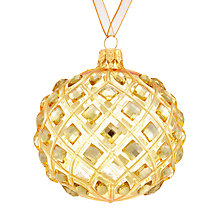 Buy John Lewis Winter Palace Trellis Gem Bauble, Gold Online at johnlewis.com