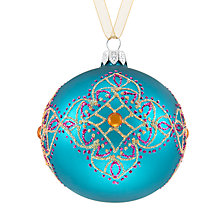 Buy John Lewis Tales of the Maharaja Henna Band Bauble, Teal Online at johnlewis.com
