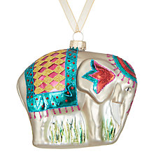 Buy John Lewis Tales of the Maharaja Indian Elephant Bauble Online at johnlewis.com