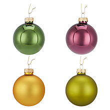 Buy John Lewis Into the Woods Glass Bauble, Tub of 20 Online at johnlewis.com