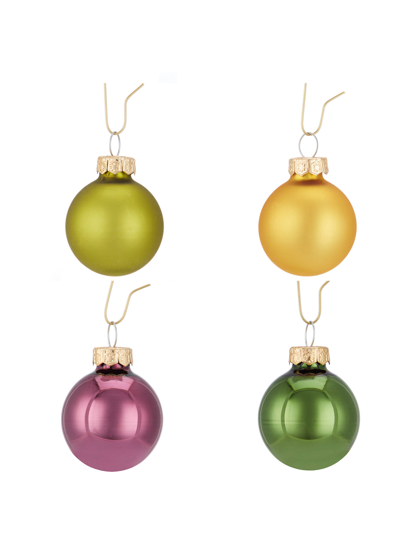 john lewis into the woods mini glass baubles tube of 28. Black Bedroom Furniture Sets. Home Design Ideas