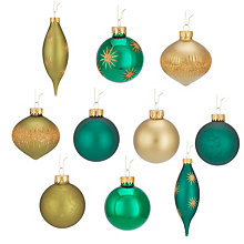 Buy John Lewis Into the Woods Baubles, Box of 20 Online at johnlewis.com