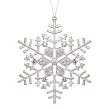 Buy John Lewis Winter Palace Jewelled Snowflake Tree Decoration, Silver Online at johnlewis.com