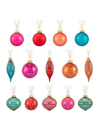 Buy John Lewis Tales of the Maharaja Baubles, Pack of 20 Online at johnlewis.com