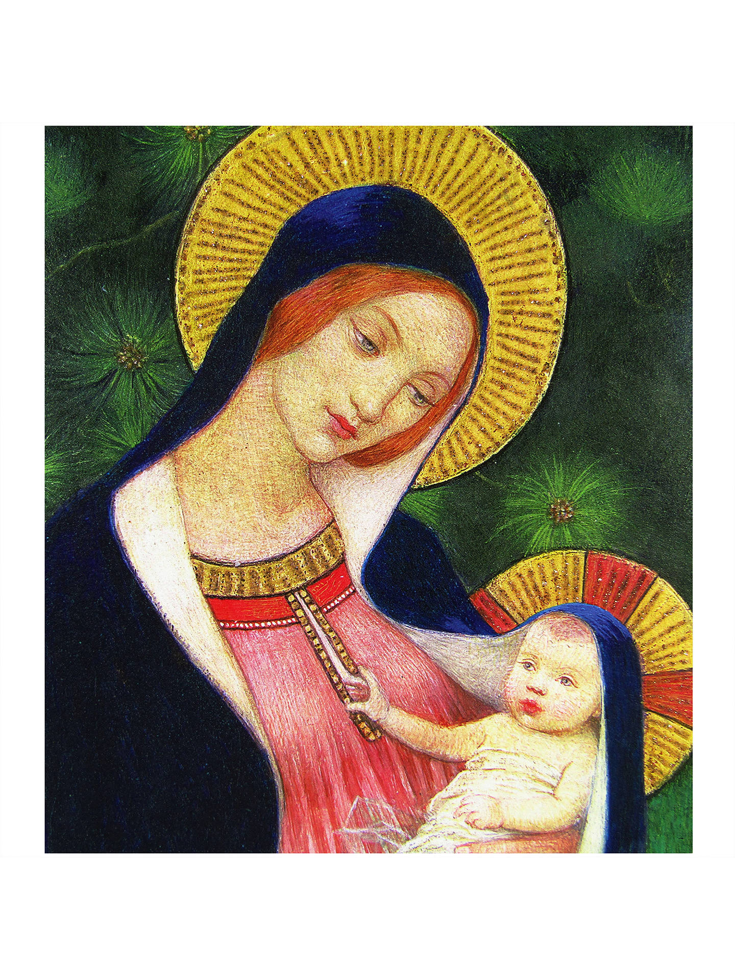 Woodmansterne Madonna With Child Charity Christmas Cards, Pack of 5 ...