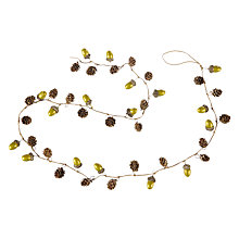 Buy John Lewis Into the Woods Acorn Garland, L180cm, Green Online at johnlewis.com