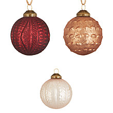 Buy John Lewis Highland Myths Treasure Baubles, Box of 12 Online at johnlewis.com
