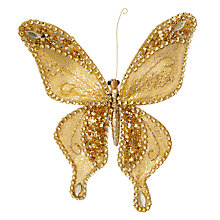 Buy John Lewis Into the Woods Golden Butterfly Clip On Tree Decoration Online at johnlewis.com