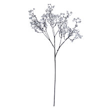Buy John Lewis Winter Palace Gypsophilla Spray, Silver / White Online at johnlewis.com