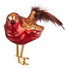 Buy John Lewis Highland Myths Robin Clip On Tree Decoration Online at johnlewis.com
