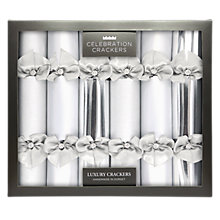 Buy Celebration Crackers Luxury Handmade Diamante Christmas Crackers, Pack of 6, Silver Online at johnlewis.com