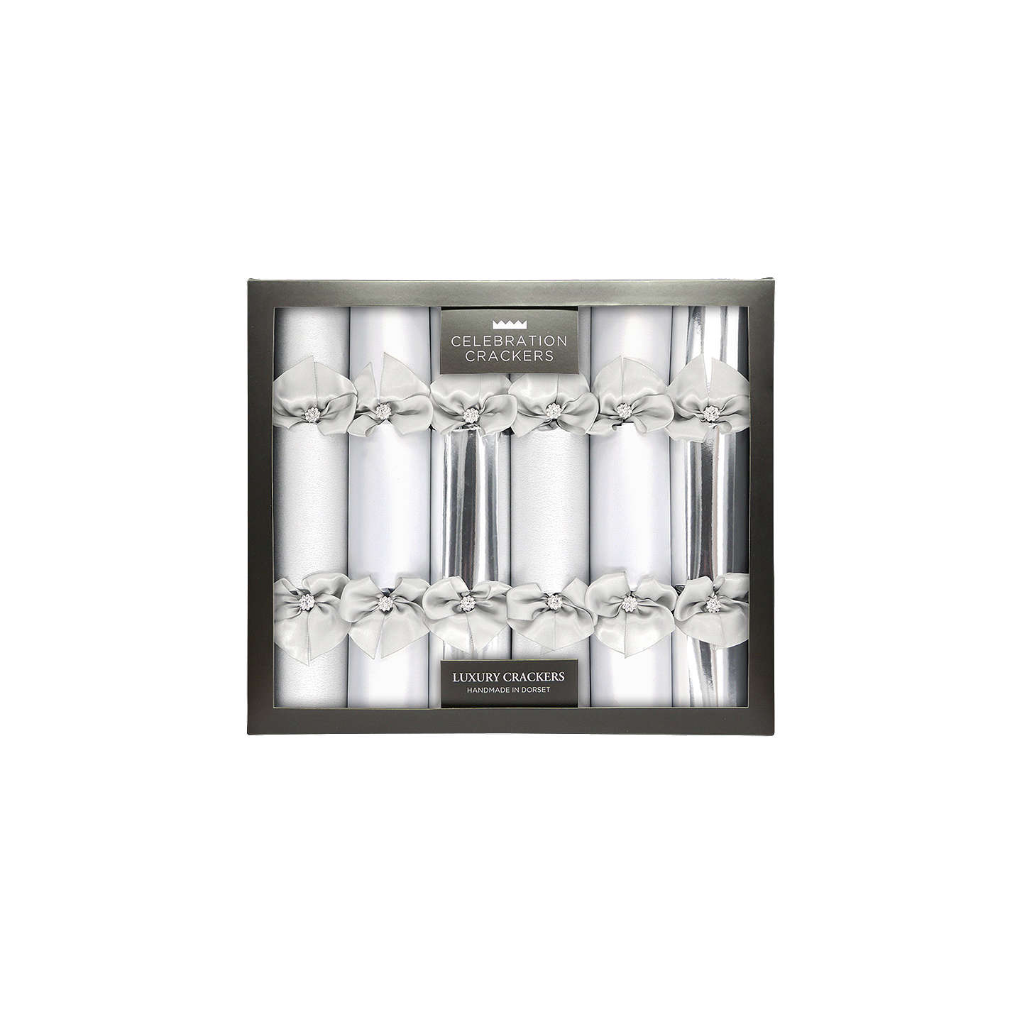 Celebration crackers luxury handmade diamante christmas crackers buycelebration crackers luxury handmade diamante christmas crackers pack of 6 silver online at johnlewis solutioingenieria