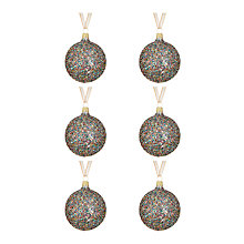 Buy John Lewis Tales of the Maharaja Glitter Ball Baubles, Multi, Set of 6 Online at johnlewis.com
