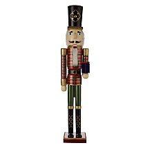 Buy John Lewis Nutcracker Tartan Extra Large Wood Figurine, H89cm Online at johnlewis.com