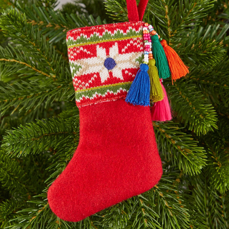 Buyjohn Lewis Lima Llama Mini Tassel Stocking Tree Decoration Online