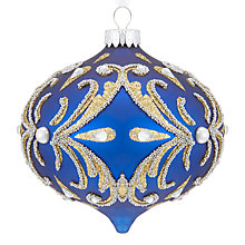 Buy John Lewis Winter Palace Ornate Onion Bauble, Royal Blue Online at johnlewis.com