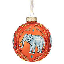 Buy John Lewis Tales of the Maharaja Elephant Bauble, Orange Online at johnlewis.com