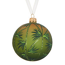 Buy John Lewis Into the Woods Palm Leaf Bauble, Green Online at johnlewis.com