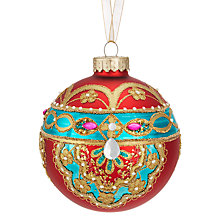 Buy John Lewis Tales of the Maharaja Maharaja Bauble, Red Online at johnlewis.com