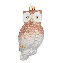 Buy John Lewis Highland Myths Shatterproof Owl Baubles, Set of 3 Online at johnlewis.com