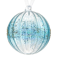 Buy John Lewis Winter Palace Ombre Ribbed Band Bauble, Blue Online at johnlewis.com